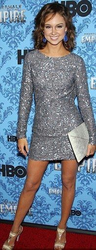 Meg Steedle in a gorgeous silver sequin Abed Mahfouz dress to the Broad Walk Empire premier in New York CIty
