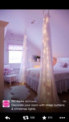 Fairy light drapes