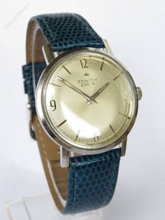 Vintage Watches Collection : Antiques Atlas - Gents Zenith Wristwatch, 1965 - Watches Topia - Watches: Best Lists, Trends & the Latest Styles Timex Watches, Wrist Watches, Authentic Watches, Swiss Made Watches, Vintage Watches For Men, Gents Watches, Mechanical Watch, Automatic Watch, Retro