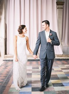 """Bride wears THEIA """"Tara"""" Gown. Photography by Lindsey Mueller"""