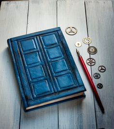 Tardis Leather journal Doctor Who Leather journal by MananaBooks