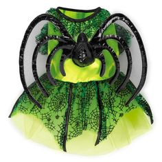 Neon Spider Princess Halloween Dog Costume at BaxterBoo