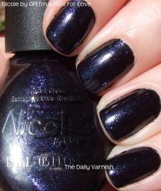 Nicole by OPI is definitely growing on me. It's Not Me, It's Blue was the first polish from this brand I ever purchased. Nicole By Opi, Take My Money, Nail Polish, Love, Nails, Winter Time, Woman, Purple, Amor