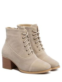 | Black Friday Sale: $18 off $100+ Using Code ZFCODE2016 | Suede Square Toe Chunky Heel Boots