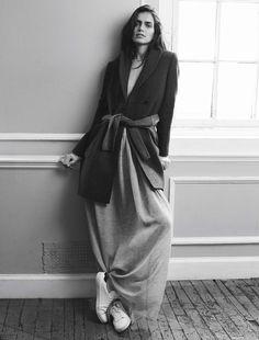 """""""Neutral Territory"""" Amanda Wellsh By Benny Horne For Vogue Spain September 2014"""