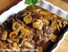 Salisbury Steak with Mushroom Gravy--> Is this not a hamburger with gravy on it? (just sayin')