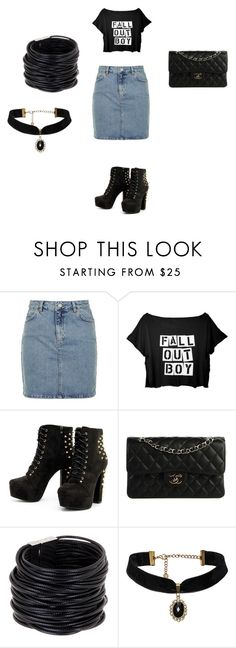 """""""Untitled #499"""" by michellemcool-1 ❤ liked on Polyvore featuring Topshop, Chanel and Saachi"""
