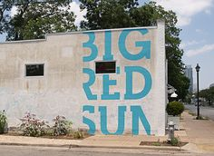 my two favorite things: great type and super big.   Arts & Rec