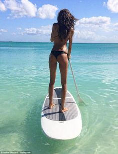 Method: The model said she likes to keep her backside toned by doing 'power…