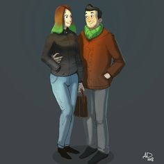 This is one of the first couples i've sketched. Nice and casual people :)