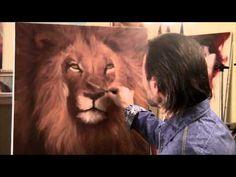 """FREE! Video """"Retrato de un león"""" completo del artista Igor Sajarov"""