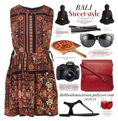 """""""24.09.15"""" by theblondemacaroon ❤ liked on Polyvore featuring Topshop, Fiorelli, Fountain, Michael Kors, Eos, LSA International, Picnic Time, Czech & Speake, kitchen and dress"""