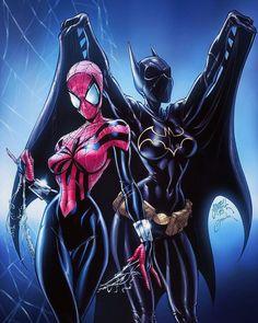 Batgirl: Cassandra Cain & Spider Girl - Art by J Scott Campbell, Alex Garner, & Victor Bartlett Comic Book Characters, Comic Book Heroes, Comic Character, Comic Books Art, Comic Art, Comic Book Artists, Batwoman, Dc Batgirl, Dc Comics
