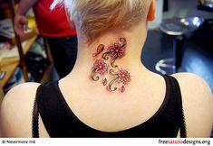 10 Feminine Tattoos as Popular Tattoo Design: 10 Feminim Tattoos As Popular Tattoo Design In Realistic Flower Tattoos As Neck Tattoos Images For Women ~ naturallivingweb.com Others Tattoo Inspiration