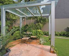 Gazebo, steel structure