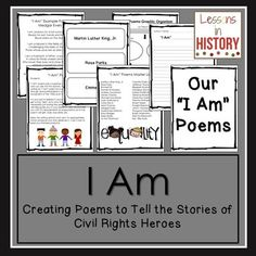 """Poetry - Writing """"I Am"""" Poems to Tell the Stories of Civil Rights Heroes (product for purchase)"""