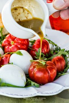 ... and Beyond: Tomato, Mozzarella and Arugula Salad with Anchovy Dressing