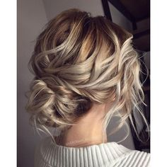 Makeup Hair Ideas Messy wedding hair updos ❤ liked on Polyvore featuring beauty products and haircare