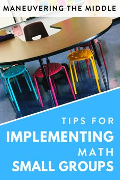 Tips and ideas to make math small groups simple, organized, and impactful! | maneuveringthemiddle.com