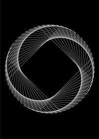 StringArt from Ágota and a lot of Nature Photos - Rose Spiral String Wall Art, Nail String Art, String Crafts, Diy Crafts, String Art Tutorials, String Art Patterns, Arte Linear, Math Art, Art Du Fil