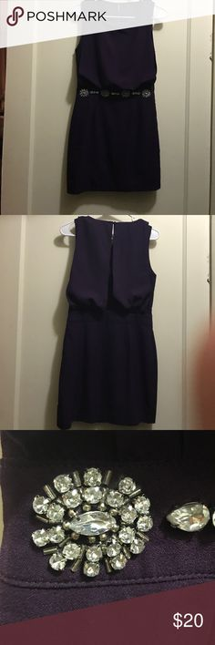 Purple Cocktail Dress Only worn once! This deep purple cocktail dress has a blouson top, defines waist, and pencil skirt. 100% polyester. Purchased from a boutique in Charleston, SC C. luce Dresses Prom