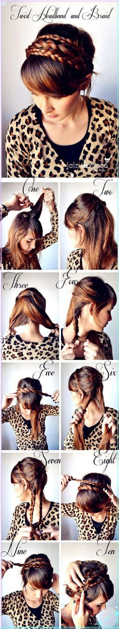 French Braid Bun Hair Tutorial. A worth tough work :)