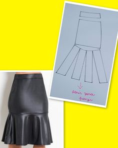 Pattern Drafting Tutorials, Skirt Patterns Sewing, Western Outfits, Diy Dress, Iranian, Pattern Making, Fashion Sketches, Dressmaking, Sewing Hacks