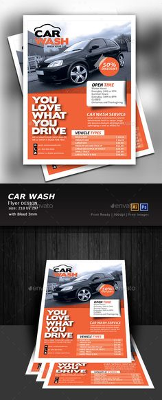 Fast Food Flyer Flyer template, Template and Brochures - car wash flyer template