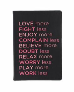 Amazon.com: Eccolo World Traveler Flexible Journal, Love More Fight Less: Office Products