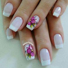 Shellac Nail Designs, Shellac Nails, Nail Art Designs, Cute Toe Nails, Cute Toes, Nail Patterns, Pattern Nails, Manicure And Pedicure, Lily
