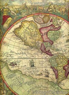 ::Vintage world map Old World Maps, Old Maps, Vintage Maps, Antique Maps, Ancient Maps, Map Compass, World Globes, Map Globe, Historical Maps