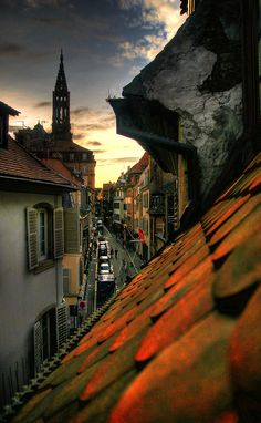Rooftop View, Strasbourg, France photo via cristina - Bleu Pueblo