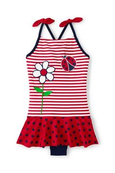 Girls+Lady+Bug+One+Piece+Swimsuit+from+Lands'+End