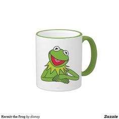 Kermit la rana taza de dos colores. Regalos, Gifts. #taza #mug