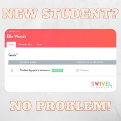 Does getting a new student stress you out? ✋⁣⁣You want to show them how excited you are to have them BUT the overwhelm of communicating with their old school, testing, gathering their info and goals, and getting their therapy plan and schedule set up can take over and put a damper on your excitement.⁣ Swivel Scheduler can help!