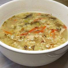 turkey dill soup
