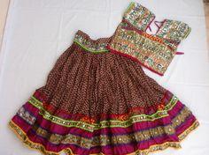 Navratri chaniya choli Designer Indian Maroon and Pink by mfussion, $66.00