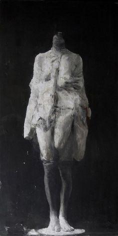 © Nicola Samorì, Sueverie, huile sur toile de lin, 200x100 cm, 2013