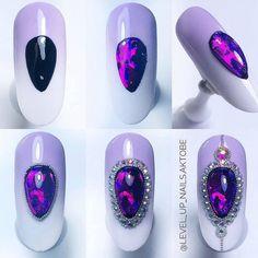 Luxury Nails – Great Make Up Ideas Rhinestone Nails, Bling Nails, Gem Nails, Hair And Nails, Nail Noel, Nail Art Modele, Nagel Bling, Stone Nail Art, Modern Nails