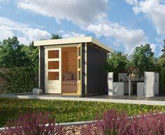 Tuinhuis Askola 2 is een populaire blokhut uit de Woodfeeling collectie van het Duitse A-merk Karibu. Tuinhuis Askola 2 van Karibu geverfd in de kleur Terragrijs biedt met zijn afmetingen van ca. 2 x 2 meter volop ruimte voor o.a. het bergen van je tuinmeubelen, gereedschap of fietsen. Direct te leveren binnen 48 uur. Ramen, Garage Doors, Shed, Outdoor Structures, Outdoor Decor, Modern, Home Decor, Bergen, Gardening