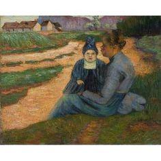 Mère et enfant dans un paysage 1892