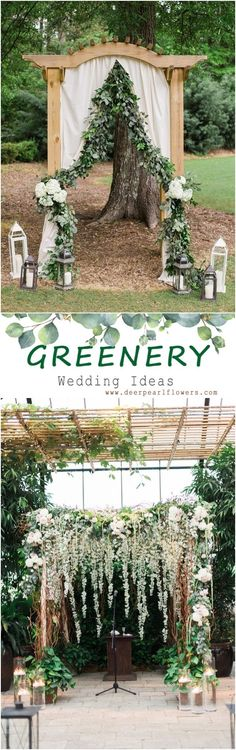 Greenery wedding flo