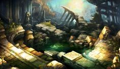 Flooded Ruins - Pictures & Characters Art - Dragons Crown