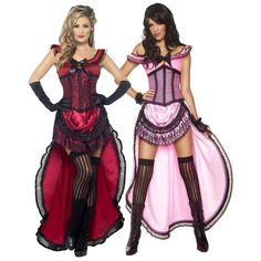 Saloon Girl Costume Sexy Adult Western Burlesque Halloween Fancy Dress | eBay