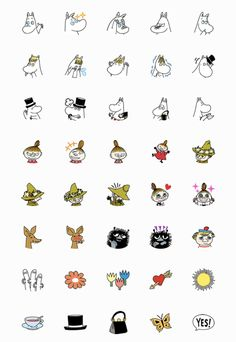 Printable Stickers, Cute Stickers, Planner Stickers, Moomin, Disney Drawings, Cute Drawings, Bullet Journal Headers And Banners, Melody Hello Kitty, Emoji Set