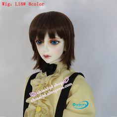 Oueneifs  bjd wig 9-10 inch 1/3 high-temperature wig boy short hair sd doll Wigs with bangs fashion type stylish hair