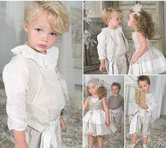Pajecitos y damitas de blanco y gris, de Rubio Kids by Hortensia Maeso