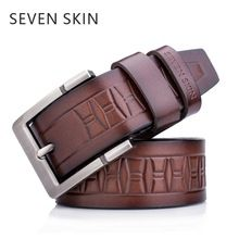 SEVEN SKIN 2018 high quality cow genuine leather men belt luxury designer belts for men pin buckle strap big size man jeans belt //Price: $US $11.26 & FREE Shipping //   #watches #bracelets #rings #shirts #earrings #dress