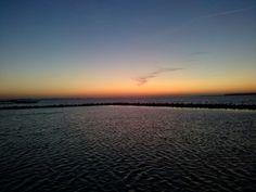 Grevelingenmeer, zonsondergang