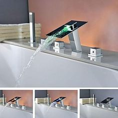 Charmingwater Brass Chrome Finish LEDWaterfall Tub Tap with Hand Shower http://www.plumpinguk.co.uk/charmingwater-brass-chrome-finish-ledwaterfall-tub-tap-with-hand-shower-3102.html